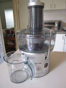 My brand-new Breville Juice Fountain!