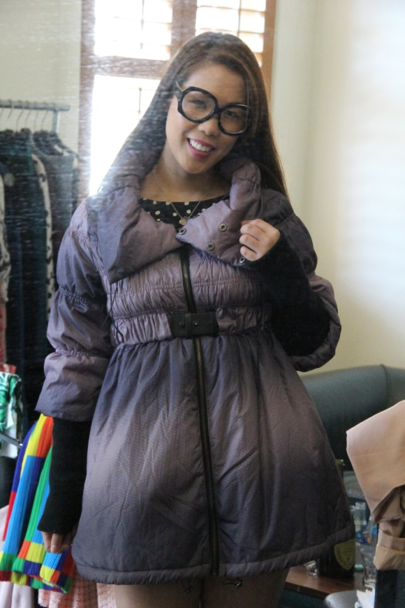 Kenzo puffer jacket.  It was super comfy and stylish, but I decided our winters weren't cool enough for it.