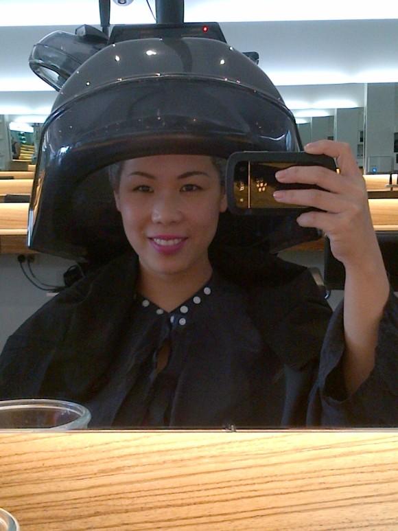I'll have my hair done Darth Vadar Style!