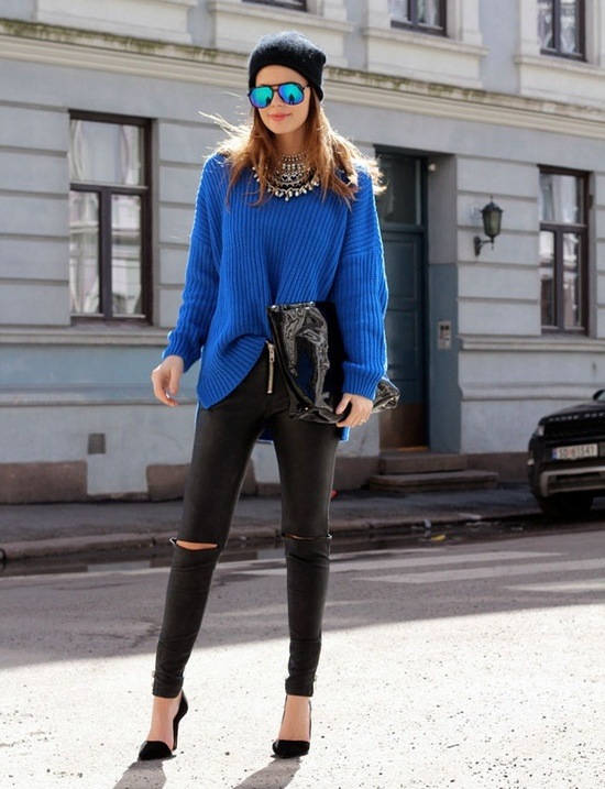 No need to feel blue this winter when you look like this!