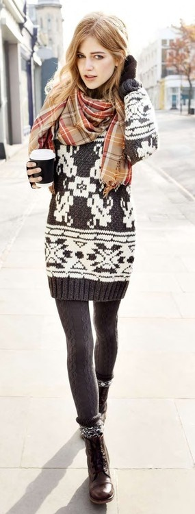 Way cute tribal print knit. It won't feel like Christmas without one!
