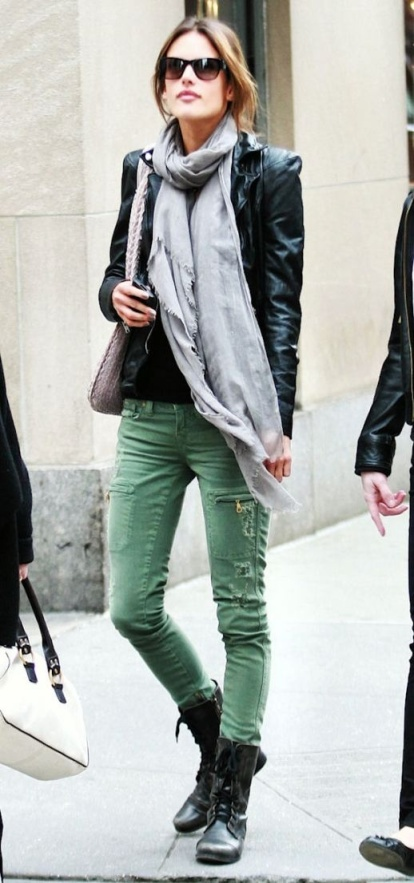 Tough Love distressed green denim. Oooh!