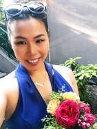 My Goodwin Charli navy dress makes these flowers pop!