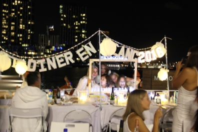 A Diner en Blanc Marquee set up!