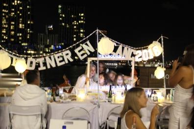 A Diner en Blanc Marquee set up!
